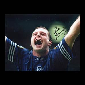 Paul Gascoigne Personally Signed Rangers photo - Rangers