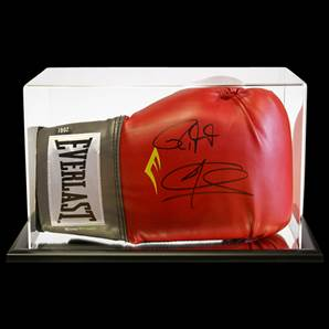 Joe Calzaghe And Roy Jones Junior Signed Boxing Glove With Acrylic Display Case