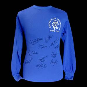 Rangers European Cup Personally Signed Shirt - 1972 Winners