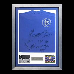 Rangers European Cup Personally Signed Shirt - 1972 Winners, Framed