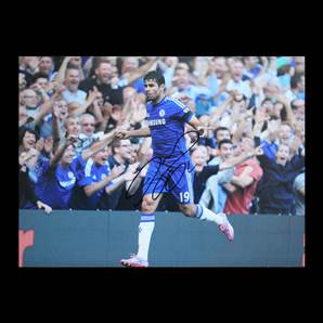 Diego Costa Signed Chelsea Photo - Hat Trick v Swansea City