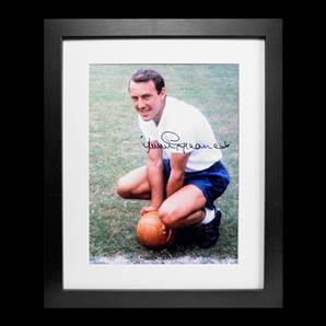 Jimmy Greaves Personally Signed Photo - Tottenham Hotspur Greatest, framed