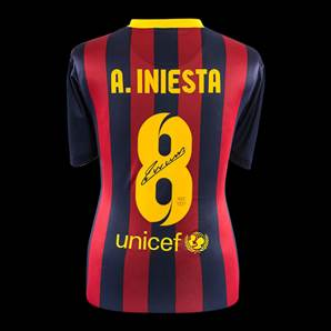 Andres Iniesta Signed Barcelona Shirt - Number 8 Shirt