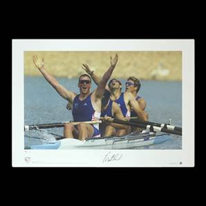 Matthew Pinsent signed print - Olympic Gold