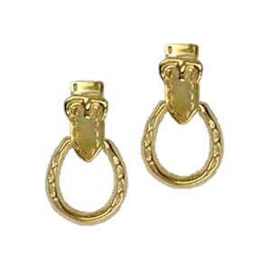 Horseshoe and buckle earrings